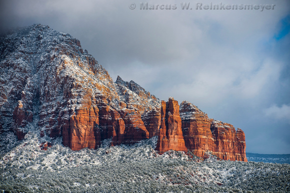 Shrouded Red Rock Formation Sedona AZ