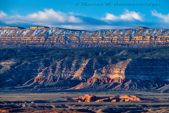 Mountain range viewed from 50 Mile Road at Grand Staircase - Escalante, Utah.