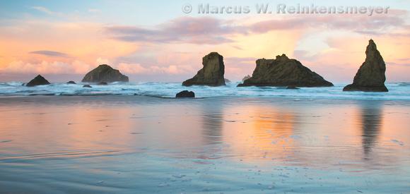 Mirror,  Bandon Beach,  Oregon 7 pano