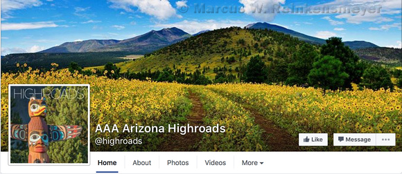 AAA Highroads Recognizes Sunflower Laced Mountainside