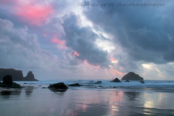 Storm Afterglow Cannon Beach Oregon