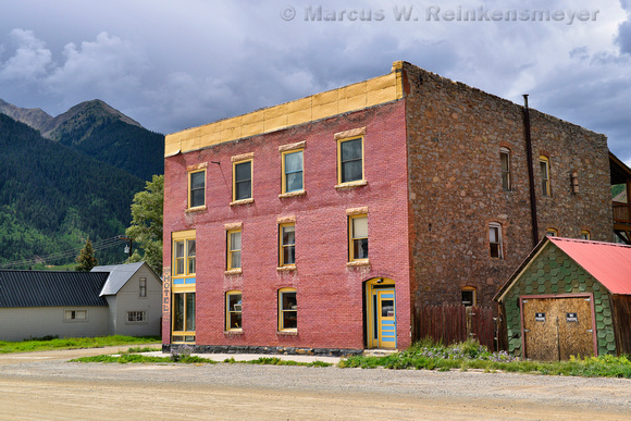 Hotel in Silverton, Colorado, an old mining town in the Colorado Mountains.