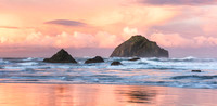 Dawn Bandon Beach Oregon 3 pano