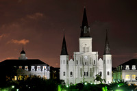 Saint Louis Cathedral, New Orleans, Lousiana, in pre-dawn light.