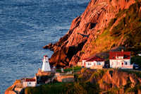 Located on the southern side of The Narrows, a lighthouse and World War II gun emplacements at historic Fort Amherst, St. John's, Newfoundland and Labrador.