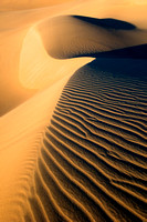 Minimalistic abstract patterns of nature, shaped by endless winds and rains at the Mesquite Flat Dunes, Death Valley National Park, California.