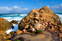 Rock Formation on the Pebble Beach Shoreline, California