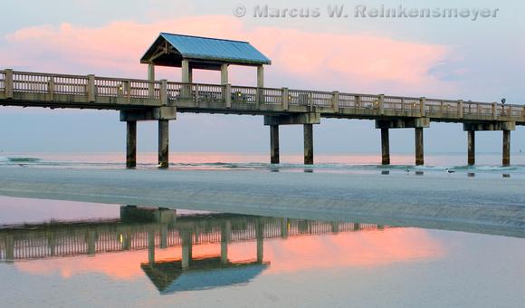Pier 60 at dawn. Clearwater, Florida coastline.