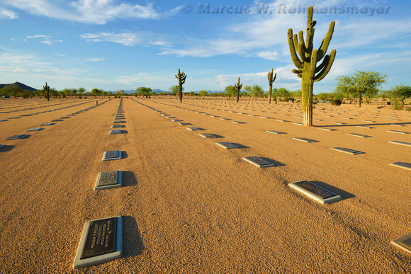 In memory of our veterans, Natioanal Memorial Cemetery of Arizona. Phoenix, Arizona.