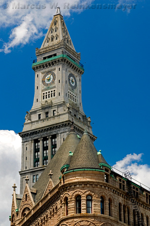 Historic clock tower in Boston.