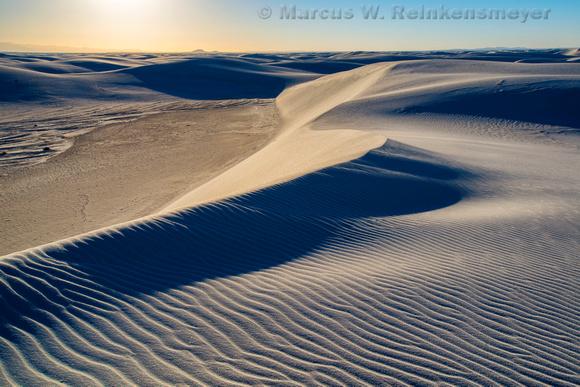 White Sands Dunes Ablaze