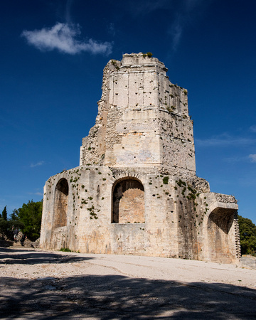 3 Magne Tower on Summit of Mount Cavalier, Nimes, Paris