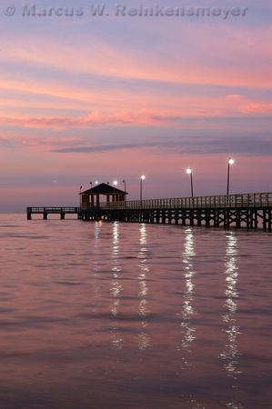 The Gulf coast before Hurricane Katrina, Biloxi, Mississippi.