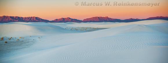 White Sands Mountain Range Panoramic