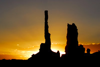 Totems at First Light 2, Monument Valley, Arizona-Utah Border
