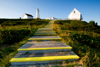 Step path leading to the lighthouse at Cape Spear, located on the far eastern coast of Newfoundland, Canada.