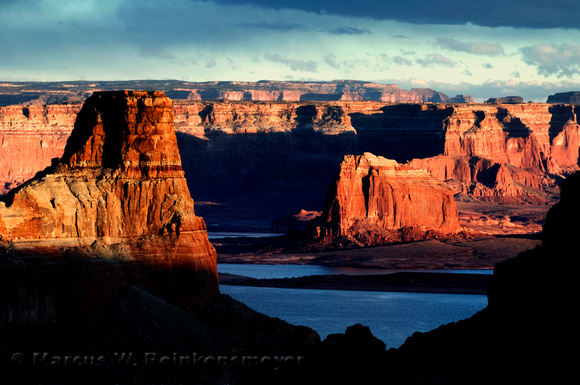 Lake Powell mountain formations, photographed from Alstrom Point, Glen Canyon Recreation Area.