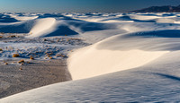 White Sands Snow Like Dunes pano