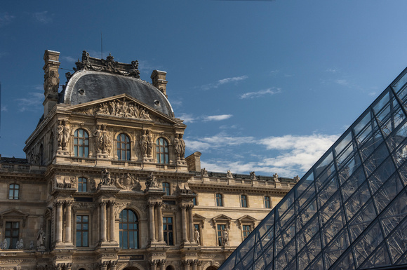 2 Louvre and Pyramid, Paris, France
