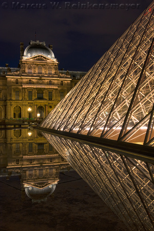 0 Louvre Palace and Pyramid 6, Paris, France