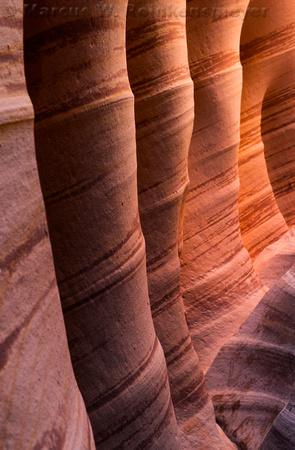 Zebra Canyon, a slot canyon at Grand Staircase - Escalante, Utah.